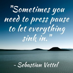 Sometimes You Need to Press Pause