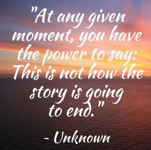 At Any Given Moment You Have the Power